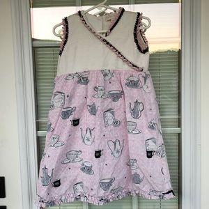 Trish Scully Girls 4T Pink Tea Dress